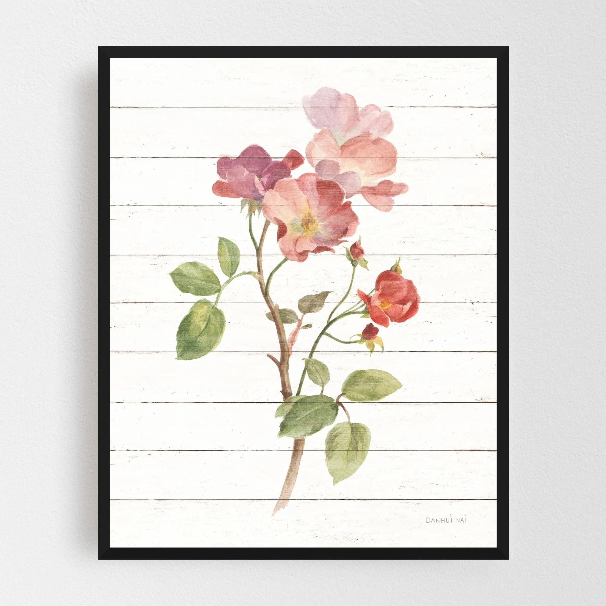 Noir Gallery Rural Floral Illustration Framed Art Print