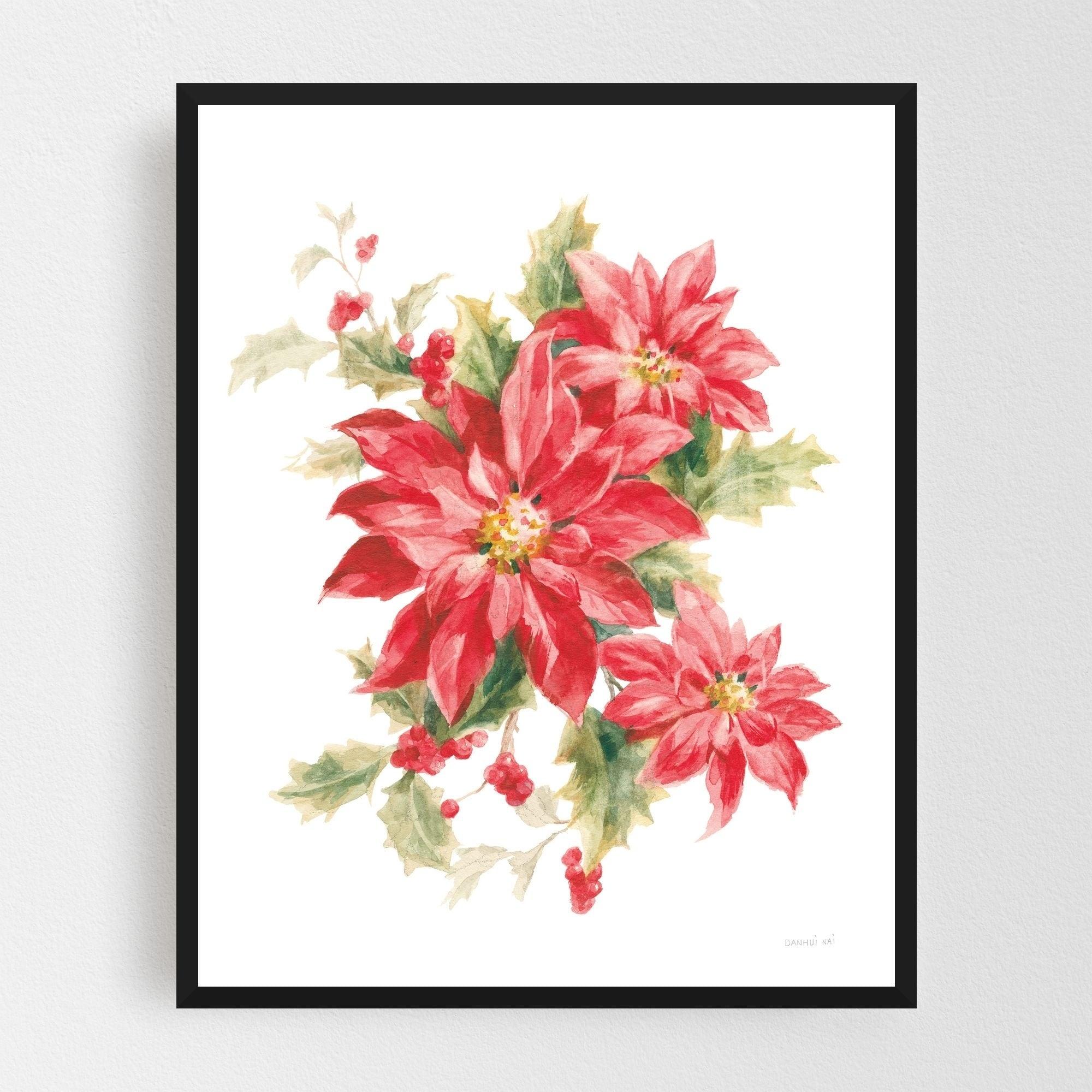 Noir Gallery Rural Floral Holiday Illustration Framed Art Print
