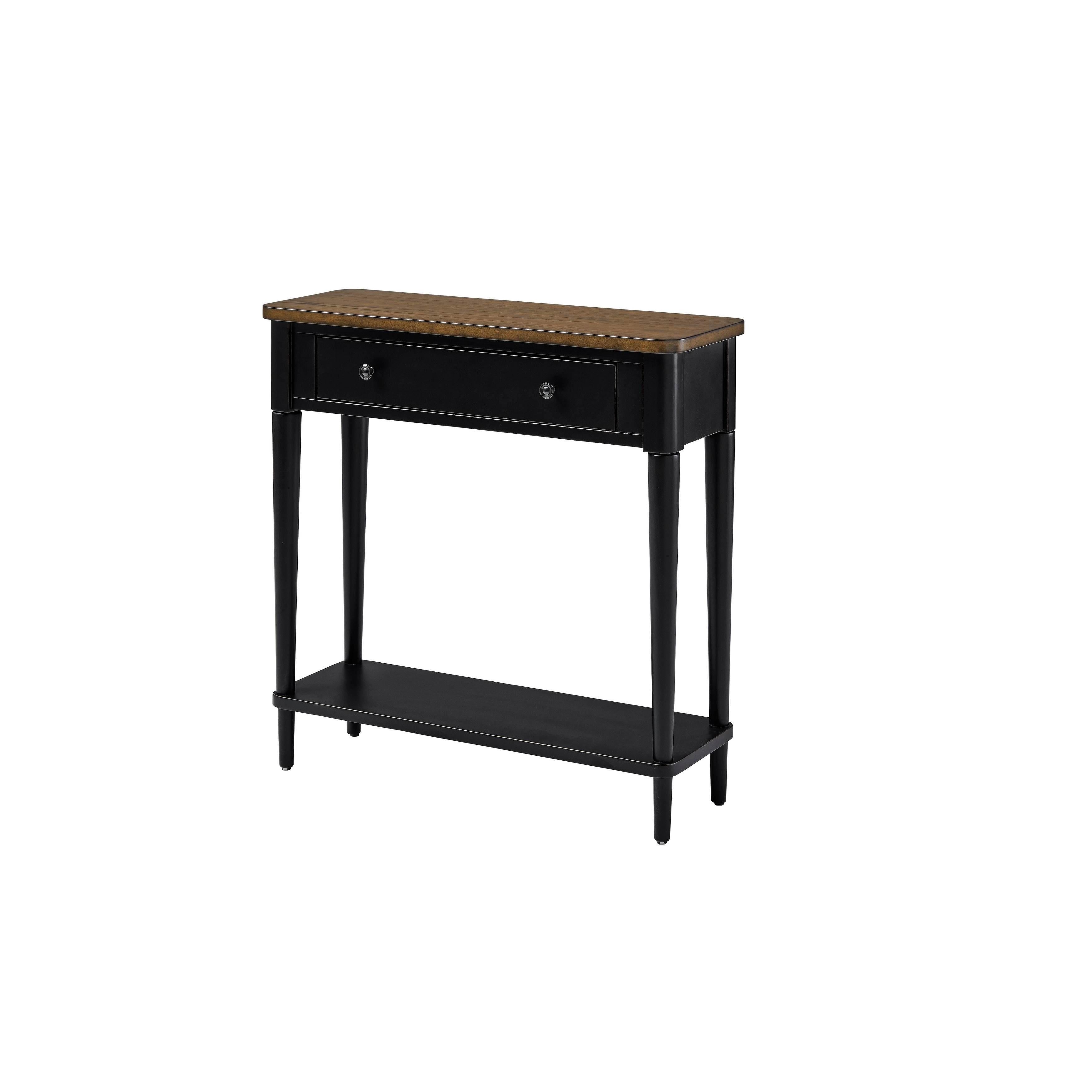 solid wood small console table with drawer and shelf