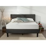 Shop Black Friday Deals On Priage By Zinus Upholstered Button Tufted Diamond Stitched Platform Bed Full Size As Is Item Overstock 30826267