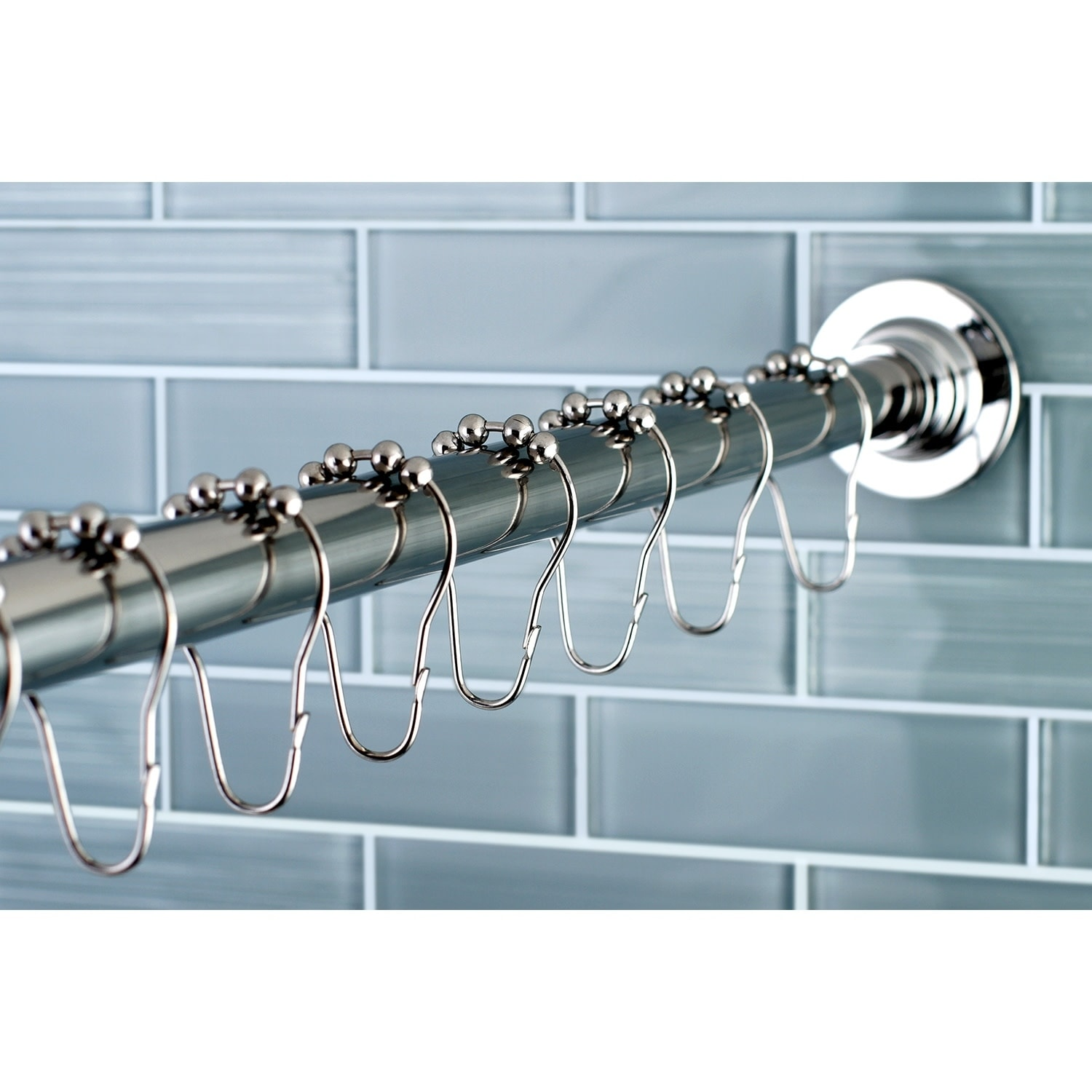 edenscape adjustable shower curtain rod with ring combo