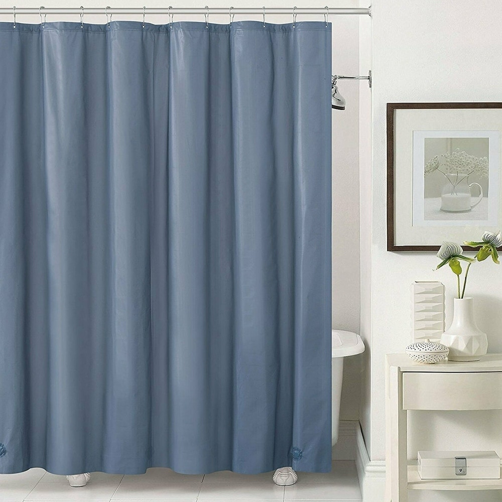polyester shower curtain liner with hooks slate 72 x 72