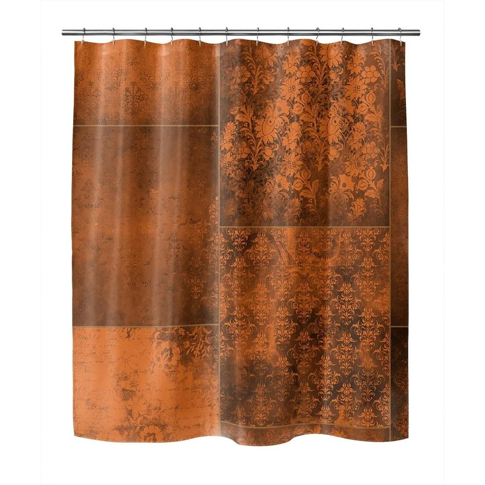 orange shower curtains find great