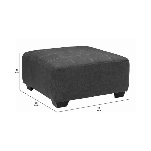 fabric upholstered wooden ottoman with