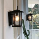 Mid Century Water Glass Outdoor Wall Sconce Lighting In Black Aluminum Alloy W7 X H12 X E8 On Sale Overstock 30975266