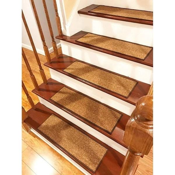 Shop Gloria Rug Stair Treads Non Slip 8 5X26 Overstock 31004542   Gloria Rug Stair Treads   Rubber Backing   8.5 X26   Decor Rugs   Overstock   Area Rug