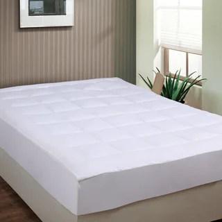 Luxurious Microplush Pillow Top Mattress Pad Option Twin Xl