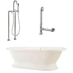 Double Ended Cast Iron 72 Inch Pedestal Bathtub 15429996
