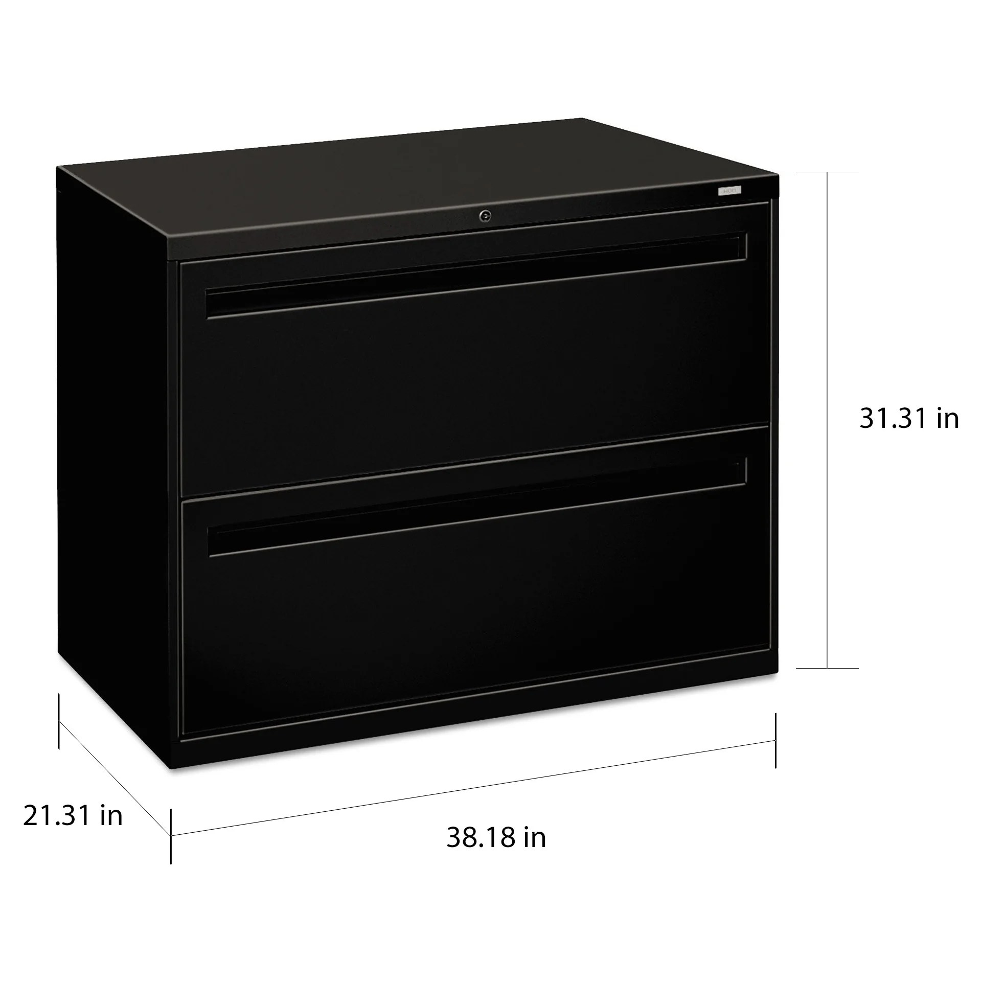 Hon 700 Series Black 2 Drawer Lateral File Cabinet