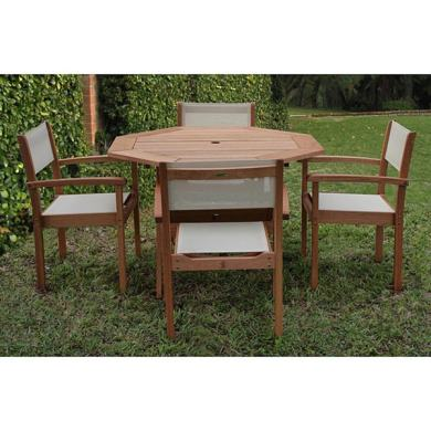 Shop Amazonia Torino Eucalyptus Wood Patio Dining Set   On Sale     Amazonia Torino Eucalyptus Wood Patio Dining Set