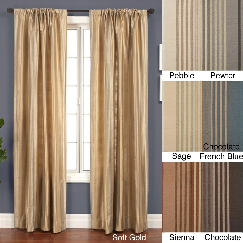 jaipur stripe rod pocket 108 inch curtain panel