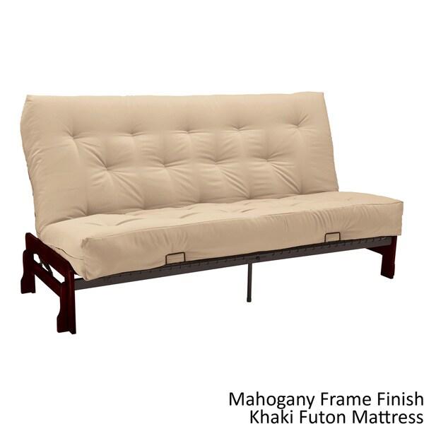 Boston Queen Armless Futon Frame Premier Mattress Set Sleeper Bed Free Shipping Today 12223558
