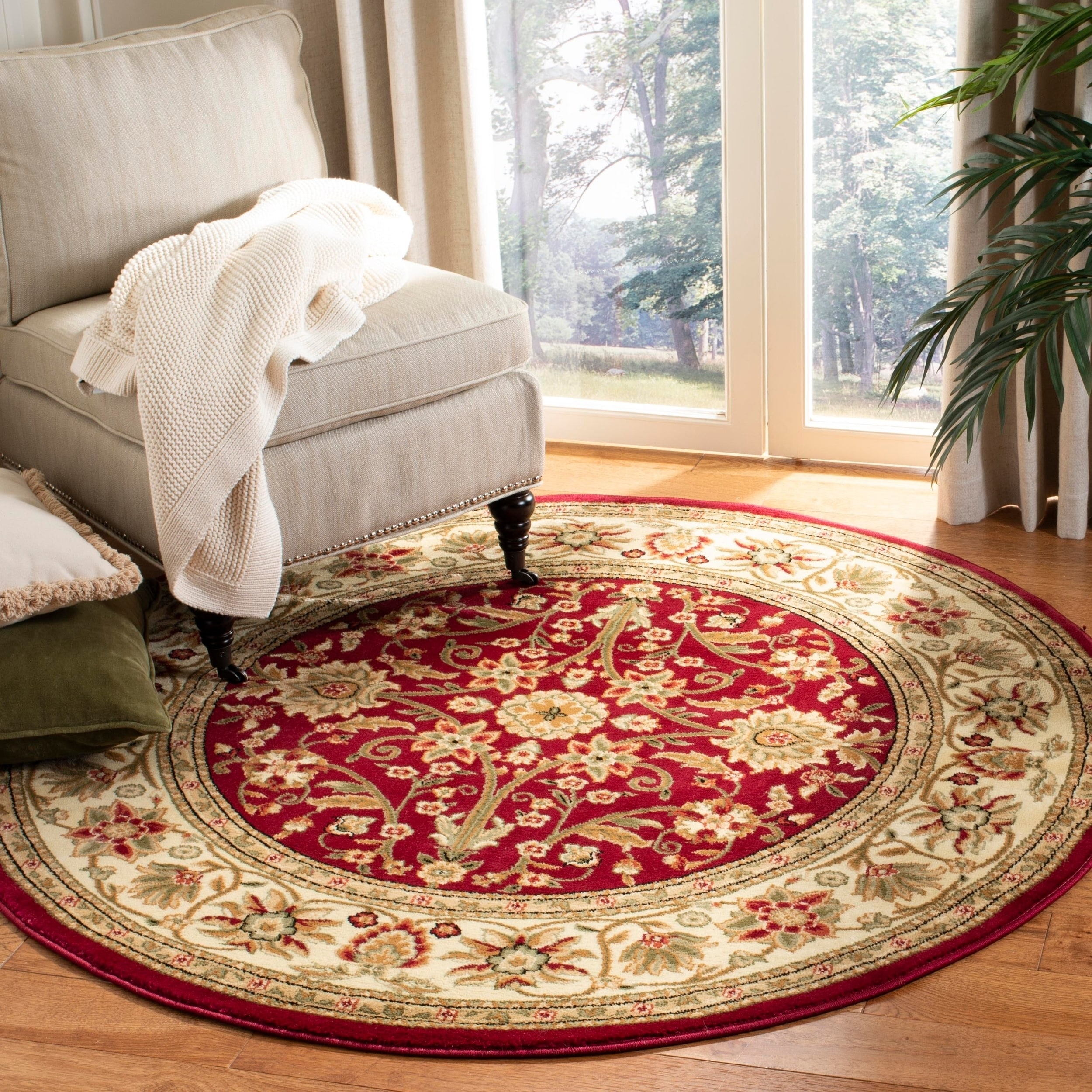 Area Rugs Runners Pads Red Traditional Living Room