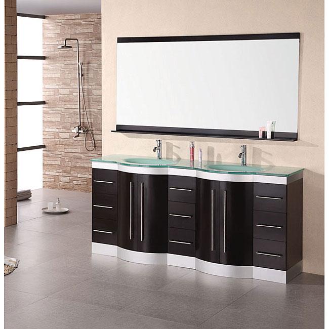 design element supreme modern double sink bathroom vanity