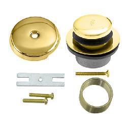 Polished Brass Tip Toe Tub Waste Drain Trim Kit Free