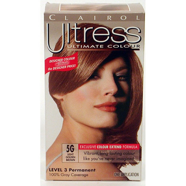 Clairol Ultress 5G Light Golden Brown Hair Color Pack Of