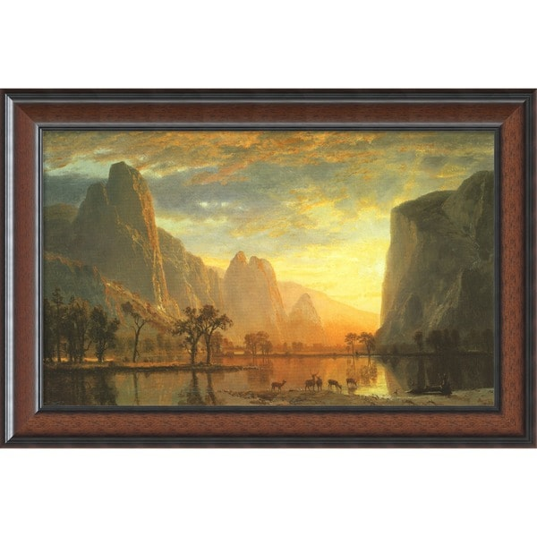 Shop Framed Art Print Valley Of The Yosemite 1864 By