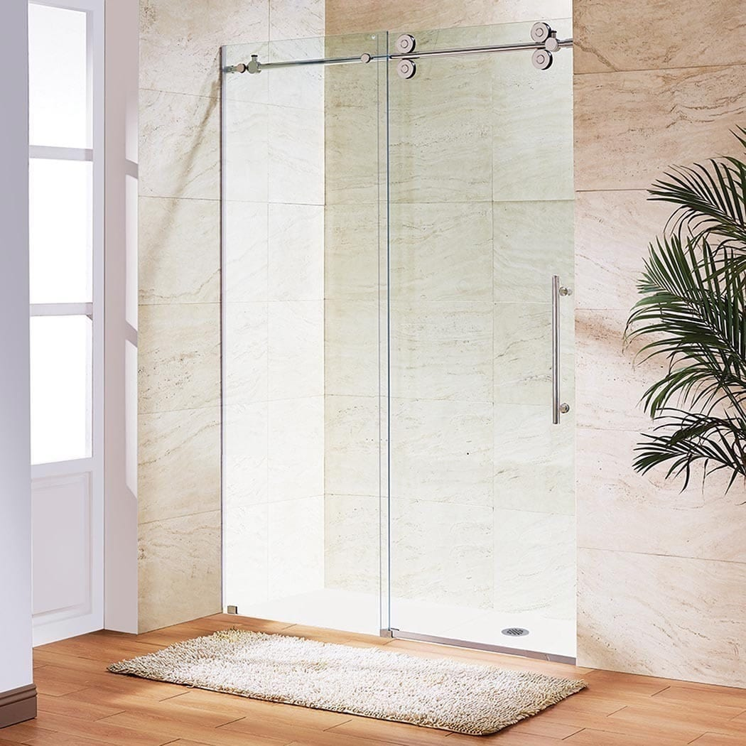 Vigo 72 Inch Frameless Sliding Glass Shower Door
