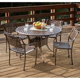 sale christopher knight home sebastian cast aluminum copper outdoor dining set hand painted brushed