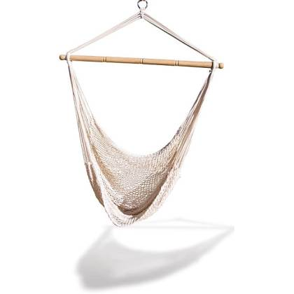 Buy Cotton Hammocks   Porch Swings Online at Overstock com   Our     Natural colored Cotton Blend Rope Hammock Net Chair