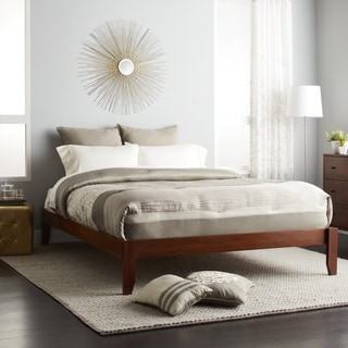 Gracewood Hollow Chevalier Queen Size Solid Bamboo Wood Platform Bed