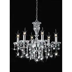 Indoor 6 Light Chrome Crystal Candle Chandelier