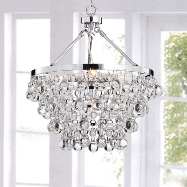 Silver Orchid Taylor Indoor 5 Light Luxury Crystal Chandelier