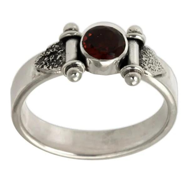 Mystical Eye Rich Red Garnet Faceted Gemstone Set In 925