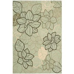 Nourison Hand Hooked Fantasy Mint Rug 8 X 106 Free