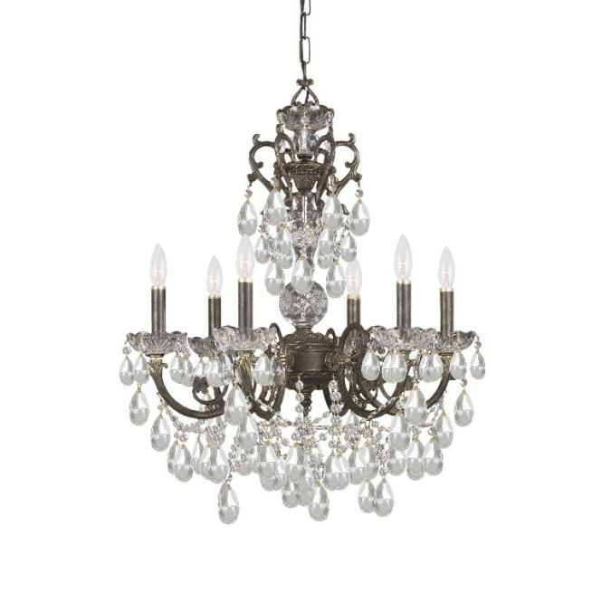 Crystorama Legacy 6 Light English Bronze Chandelier