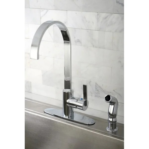 Kingston Brass Continental Modern Chrome Centerset Kitchen Faucet