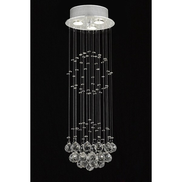 Gallery Indoor 3 Light Chrome Crystal Ball Chandelier Free Shipping Today 13266791