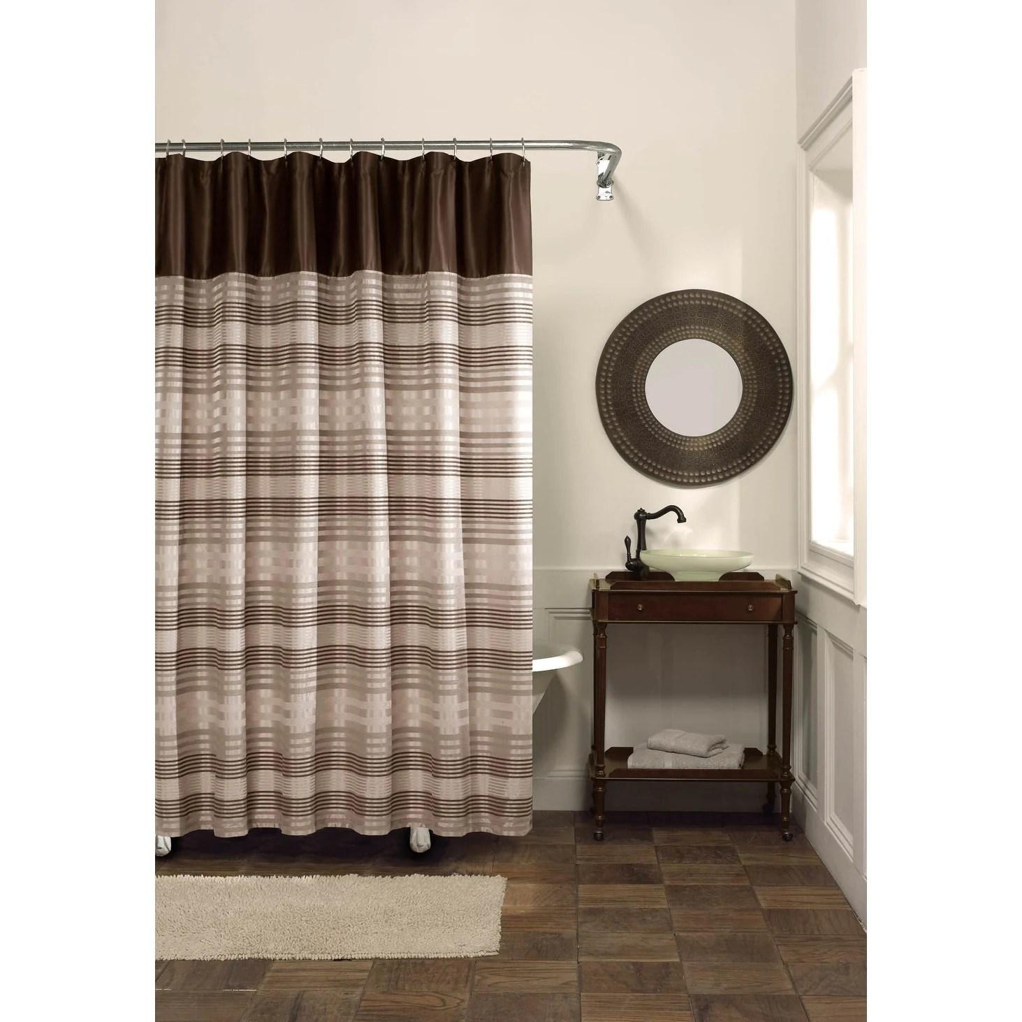 Maytex Blake Fabric Shower Curtain