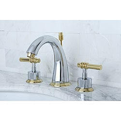 milano widespread chrome/ polished brass bathroom faucet - free