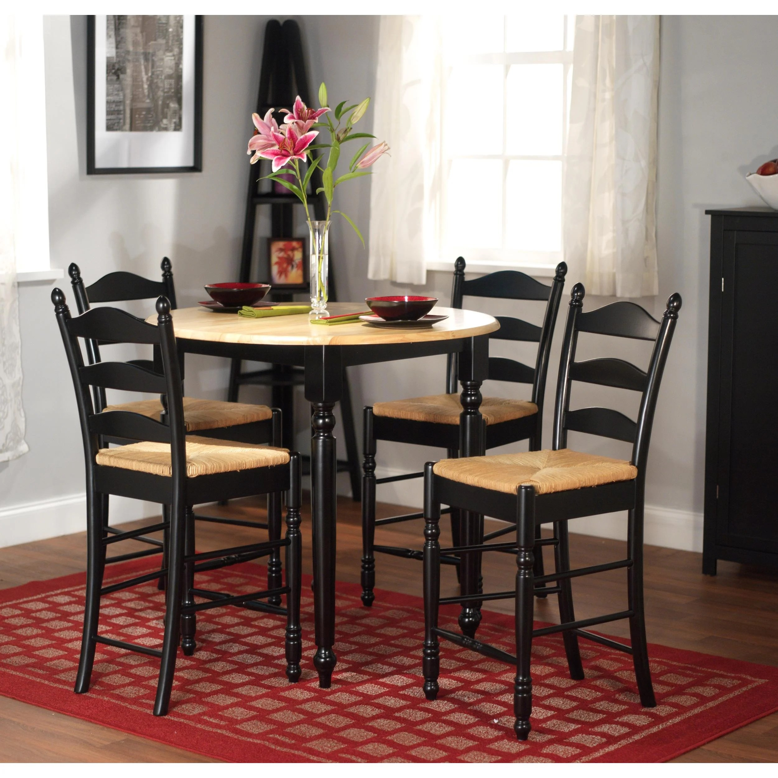Simple Living Round Counter Height 5 Piece Dining Set
