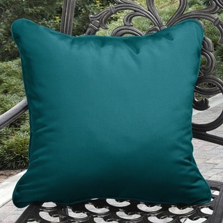 Shop Clara Indoor Outdoor Teal Blue Throw Pillows Made
