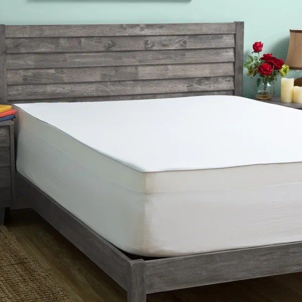 Grande Hotel Collection 4 Inch Memory Foam Mattress Topper With Egyptian Cotton Cover