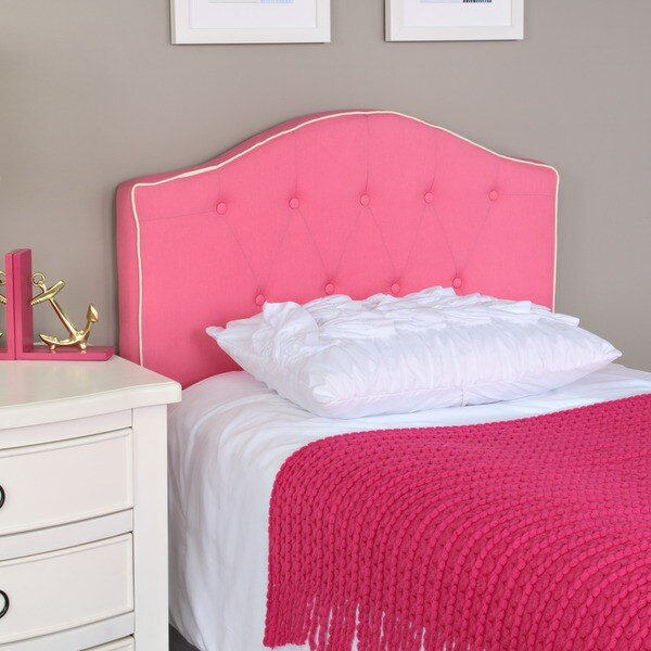 Shop Pink Fabric Twin Size Headboard Free Shipping Today Overstock 5982918