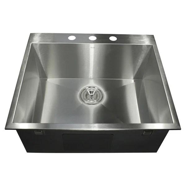 Shop Stainless Steel Zero Radius Drop In Sink Free