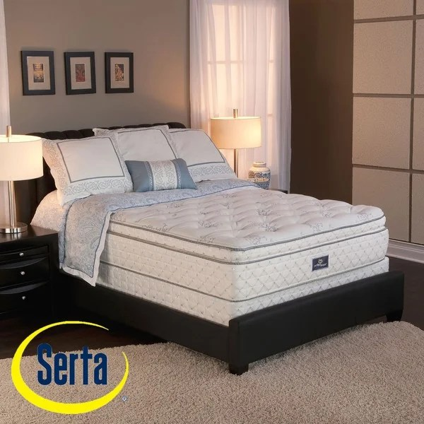 Serta Perfect Sleeper Conviction Super Pillowtop King Size Mattress And Box Spring Set