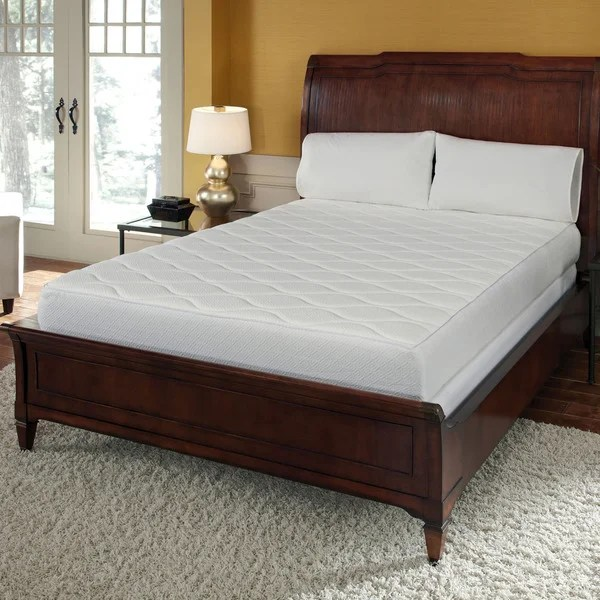 Queen 10 Inch Memory Foam Mattress With Quilted Top
