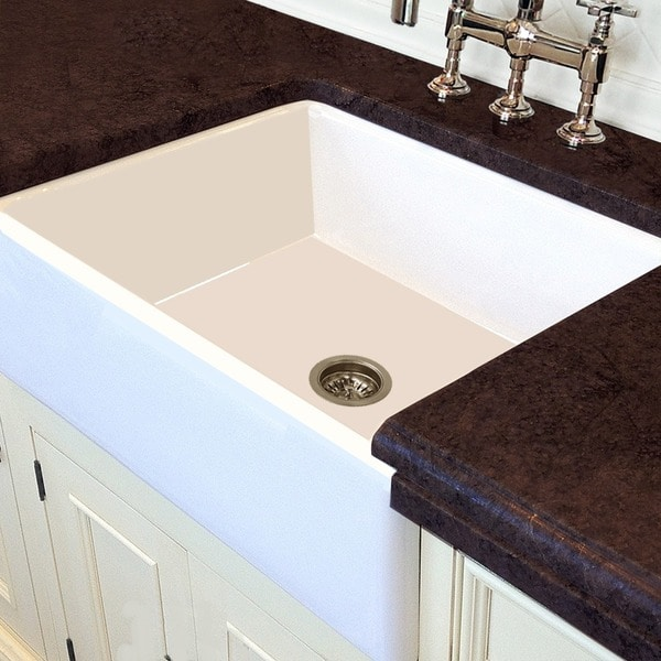 White Italian Fireclay 30 Inch Farmhouse Kitchen Sink