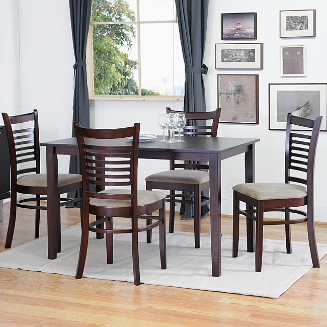 Shop Cathy Brown Wood Modern 5 Piece Dining Set Free
