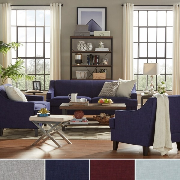 Winslow Concave Arm Modern 3-piece Living Room Set by ...