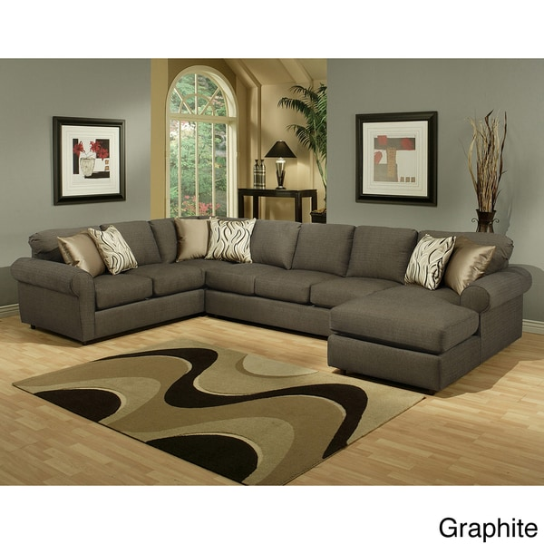 Lovely Furniture Of America Keaton Chenille Sectional Sofa Free Sc 1 St  Centerfieldbar.com