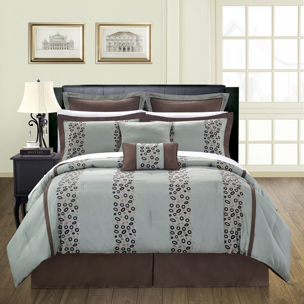 Shop Pebbles 12 Piece Queen Size Bed In A Bag With Sheet