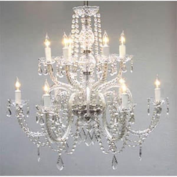 Gallery Venetian Style All Crystal 12 Light Chandelier