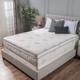 Aloe Gel Memory Foam 13 Inch Queen Size Pillow Top Mattress By Christopher Knight