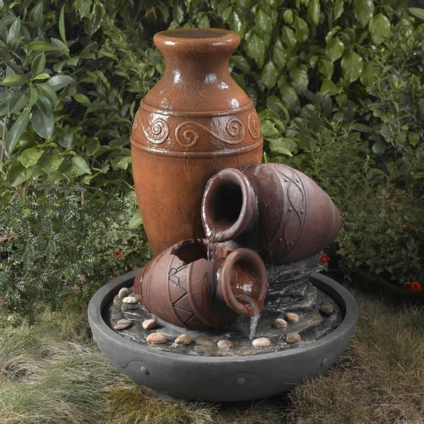 Shop Old Fashioned Clay Pots Water Fountain Free