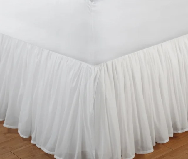 Greenland Home Fashions White Sheer 100 Percent Cotton Voile Bedskirt